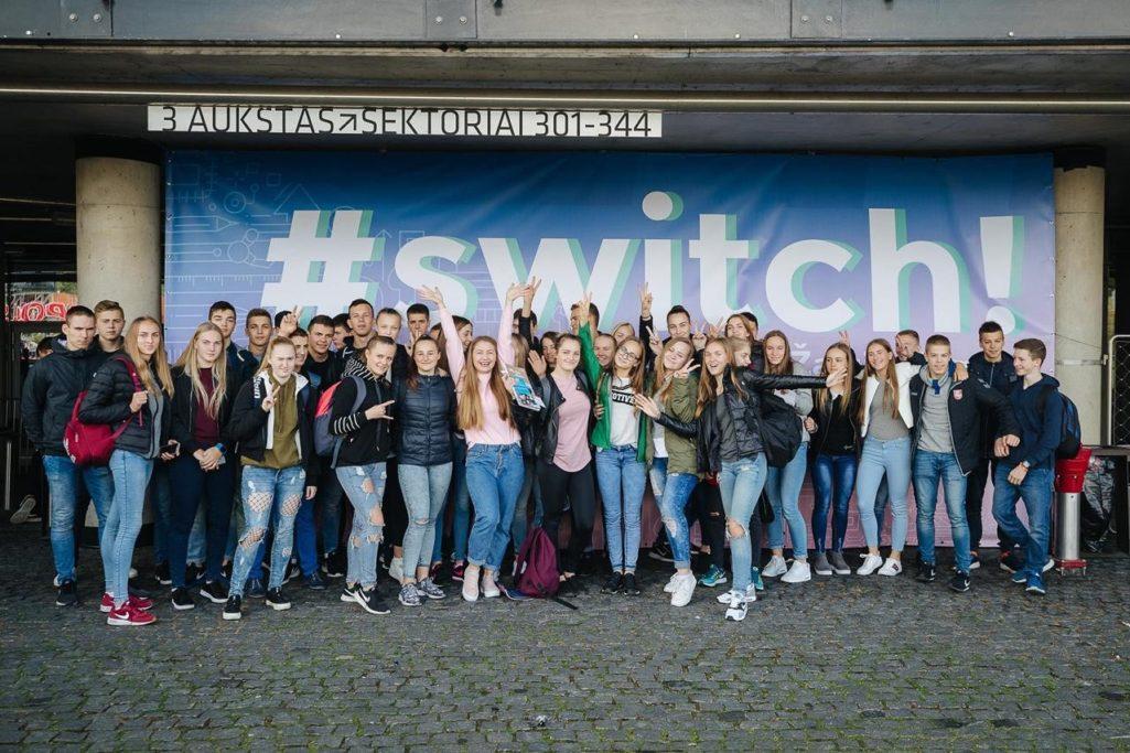 Kviečiame moksleivius skubėti registruotis į #Switch!